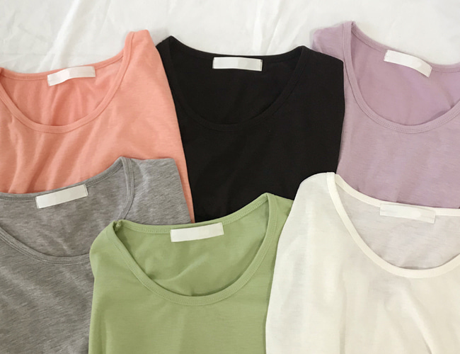 [made] daily U-neck tee (6color)