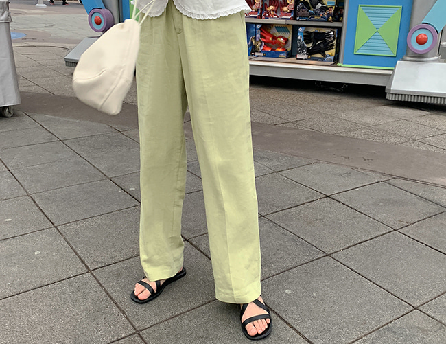 피알 linen pants (2color)
