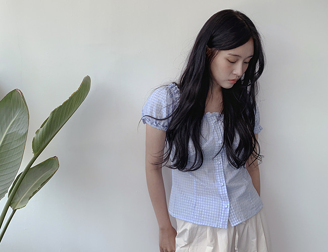 고방체크 blouse (3color)